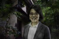 「Photoshopで人物の顔をゾンビ風に変身!」を参考に加工した画像